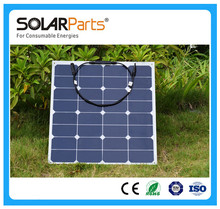 Solarparts 1PCS 50W high efficiency pv flexible solar panels for charging use fishing boat battery lamp