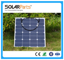 Solarparts 1PCS 50W high efficiency  pv flexible solar panels for charging use/fishing boat/battery/lamp/light
