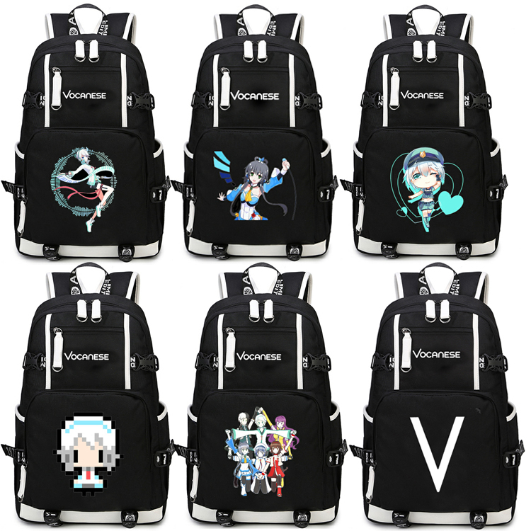 Anime Vocaloid Backpack Cartoon Luo Tianyi vocanese Bags Oxford Student School Bag Travel Bag Computer package anime tokyo ghoul cosplay anime shoulder bag male and female middle school student travel leisure backpack