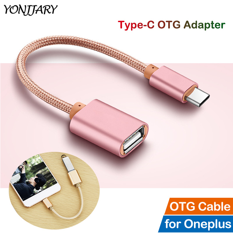 Type C OTG Adapter Cable for OnePlus 5 6 5T 6T 7 Pro USB C Cable