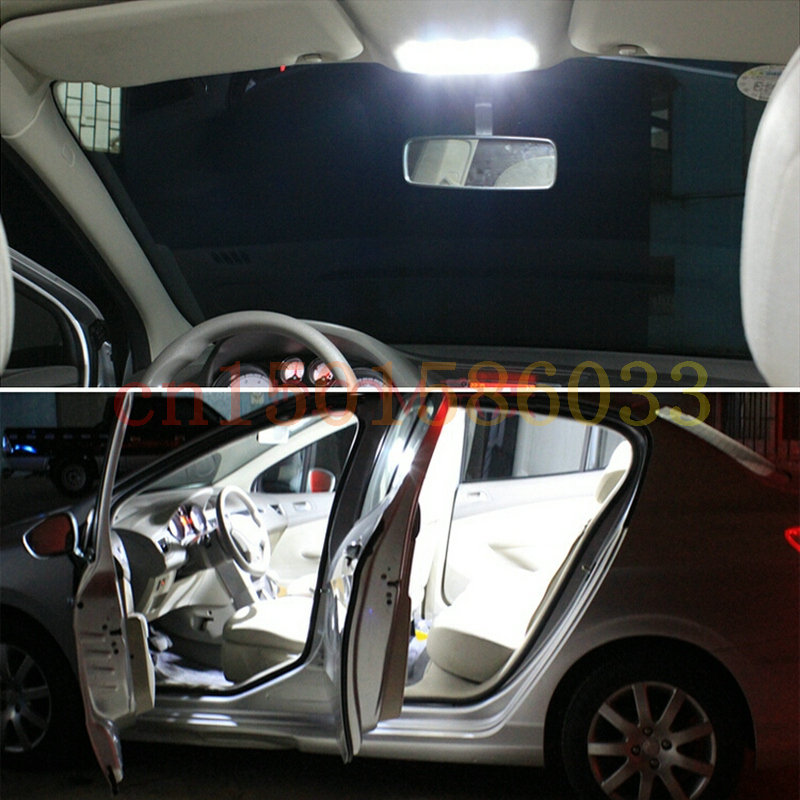 Free Shipping 8pc LED Lights car-styling Hi-Q Interior Package Kit For 2016 CHEVROLET CRUZE