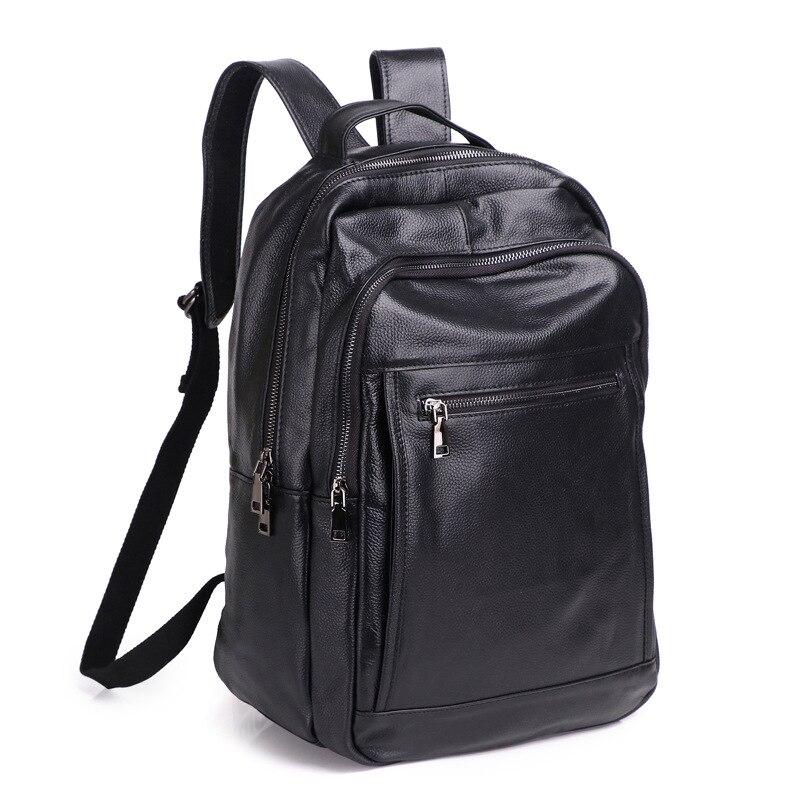 Мужской женский рюкзак из натуральной кожи, 15,6, противоугонная большая вместительность, Mochila, сумки на плечо для ноутбука, мужские сумки для ...