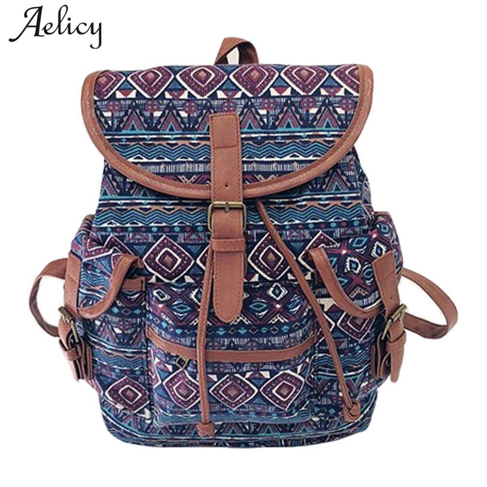 Backpack Canvas Backpack Drawstring Animal Printing Backpacks For Teenage Girls Large School Bag