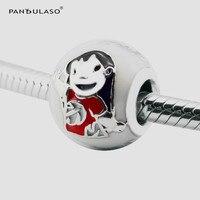 Pandulaso Lilo Stitch Round Beads Fit Charms Bracelets Bangles DIY Jewelry Black Hair Girl Cartoon Beads