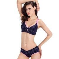 Cotton Maternity bra+panties set prevent sagging nurse bra for pregnant women sports Breastfeeding Nursing Bra underwear