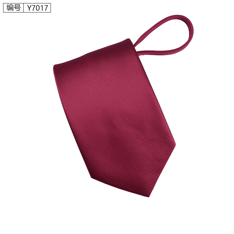 New 7cm Zipper Men Ties Business Fashion Style Slim Men Neck Tie Simplicity Design Solid Color For Party Lazy Formal Ties 6