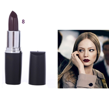 Best Deal NEW Professional Cosmetic Waterproof Lipstick Vampire Gothic Style Dark Red Color Lip Stick Long Lasting lipstick