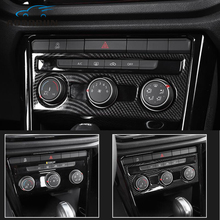 car-styling Central control air conditioning knob decoration cover Car Accessories For VW Volkswagen T-ROC 2017 2018