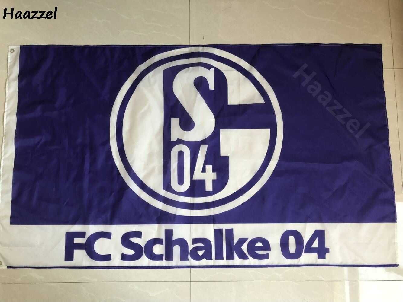 Germany Bundesliga Fc Gelsenkirchen Schalke 04 3ft 5ft 90 150cm Size Christmas Decorations For Home Flag Banner Gifts Flags Banners Accessories Aliexpress