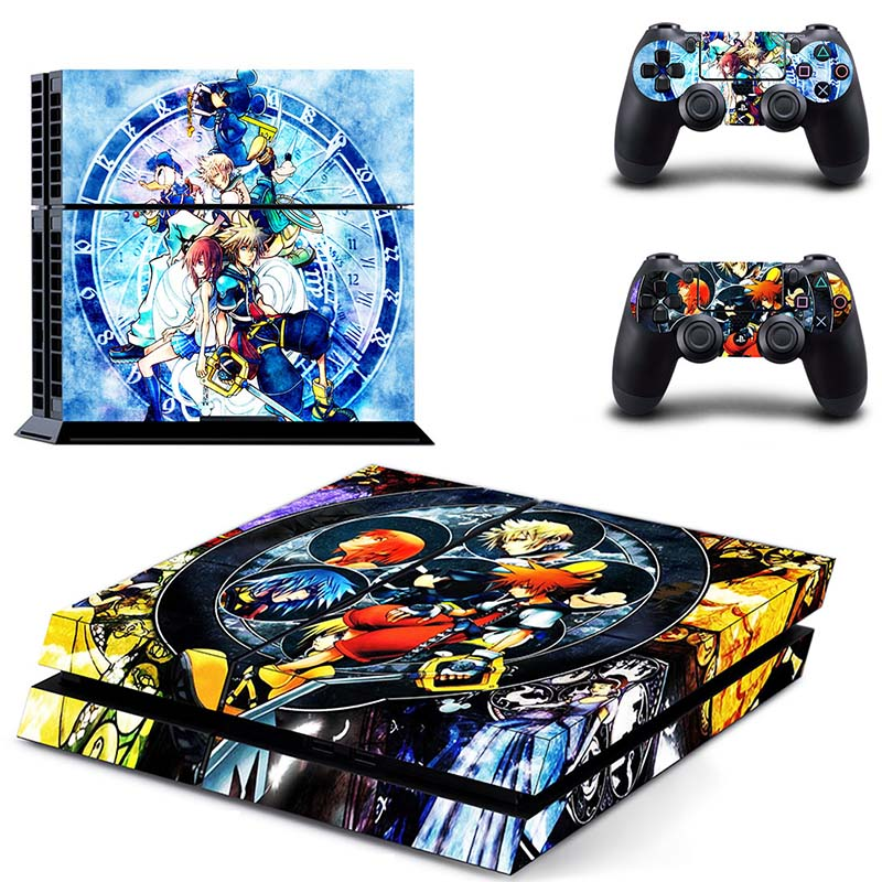 Image 5 - HOMEREALLY Stickers PS4 Skin KING DOM HEARTS Sticker for Sony Playstation 4 Controller and Console Skin PS4 Accessory-in Stickers from Consumer Electronics