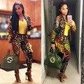 Европейский стиль моды женщины комбинезон blazer + брюки боди женщины комбинезоны осень зима женская одежда TE3101