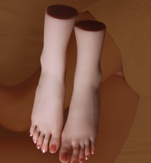 SIZE 39 Top Quality New Sex Products,Soft Feet Fetish Toys for Man,Young Girl Lifelike Female Feet,Fake Feet Model for Sock Show sex products for men new arrival foot fetish toys real pussy clone feet fake sex rubber silica gel female footwear model props