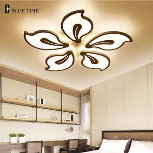 Image 3 - White&Black Finished Modern Led Ceiling Light For Living room Bedroom Dining room Lustres Acrylic Led Ceiling Lamp Light Fixture