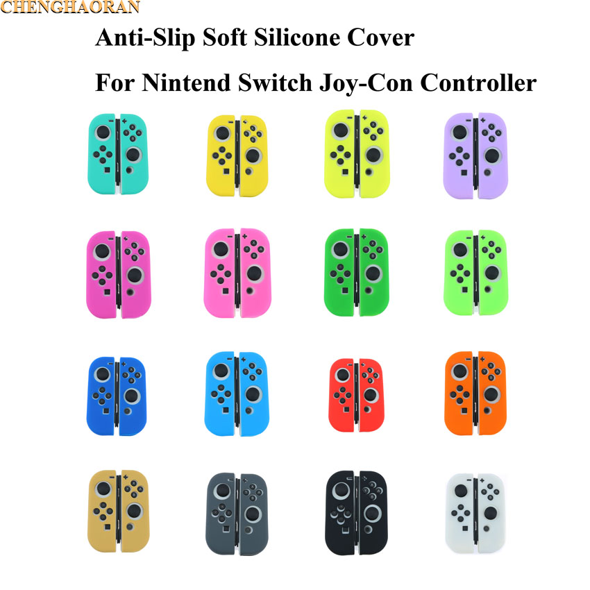 1set Luminous Candy Solid Colors Silicone Case Cover Soft Protector Cover Skin For Nintend Switch For NS Joy-Con Controller
