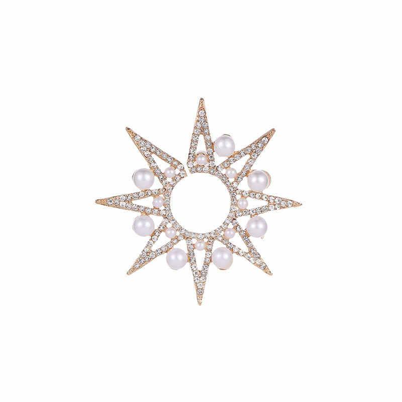 1 pcs רומנטי בוהמיה יפה ברור לדמות פרל פרח צורת נוח פשוט Stud עגילי קריסטל לנשים מפלגה