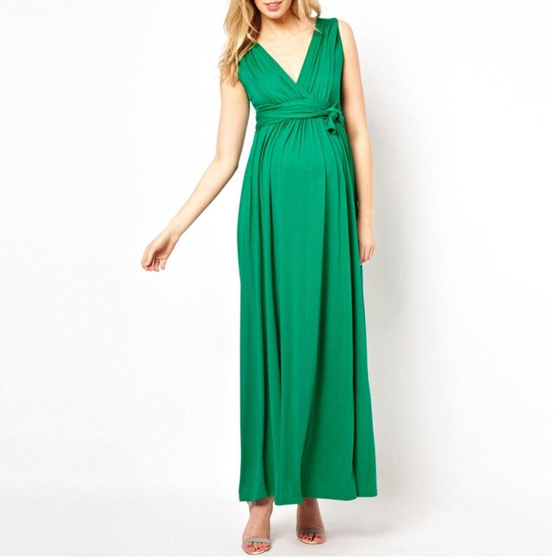 Hot mom 2018 robe de maternité robe d'été Europe et amérique à manches courtes grande taille femmes enceintes longue jupe femmes enceintes l