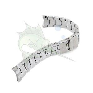 Image 3 - Cao Qualith Thép Không Gỉ Ban Nhạc Đồng Hồ Vòng Đeo Tay, 22mm Cong Mảnh Màu Đen Dây Đeo Đồng Hồ cho Casio EF 550 Watchband dây đeo