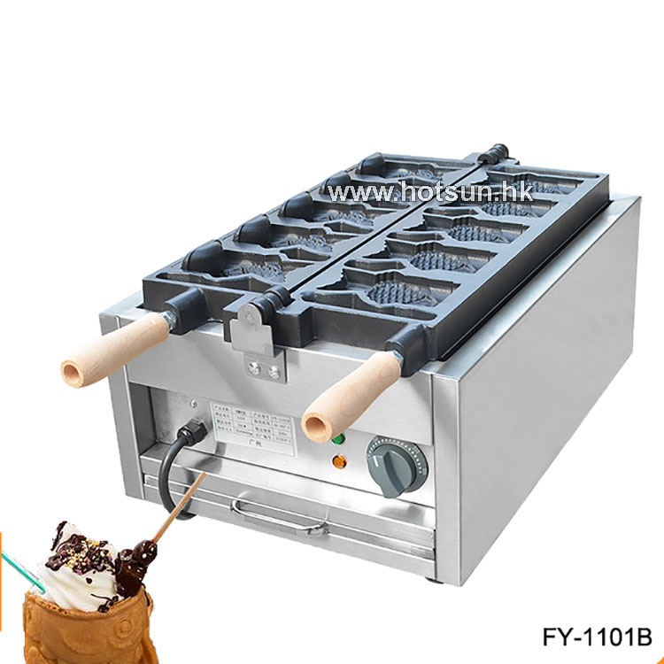 Commercial Non-stick 110V 220V Electric Ice Cream Fish Waffle Taiyaki Iron Maker Baker Machine edtid new high quality small commercial ice machine household ice machine tea milk shop
