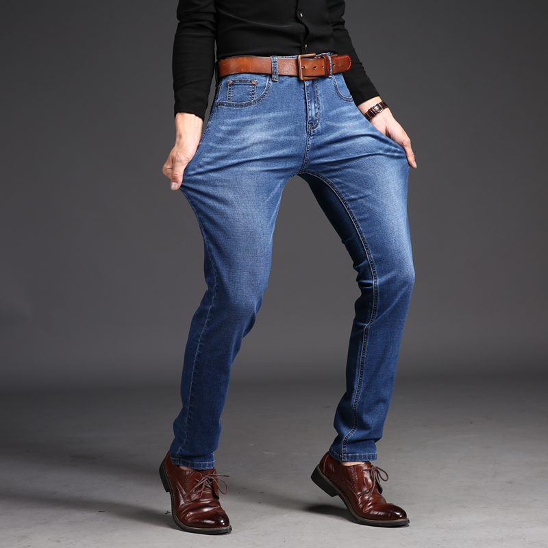DEE MOONLY 2017 Four Seasons new fashion casual men s stretch jeans Slim Korean version of