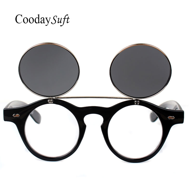18989e5be4 Coodaysuft Steampunk Sunglasses Goggles Men Round Sunglasses Opened Steam  Punk Metal Sun glasses Circle Women Clop On-in Sunglasses from Apparel  Accessories ...
