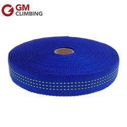 GM ESCALADA 30ft Azul Nylon Webbing Tubular 25mm Escalada Cinto Cinta para Ancoragem Aparelhamento Estilingue Ao Ar Livre Equipamento de Camping Reparação