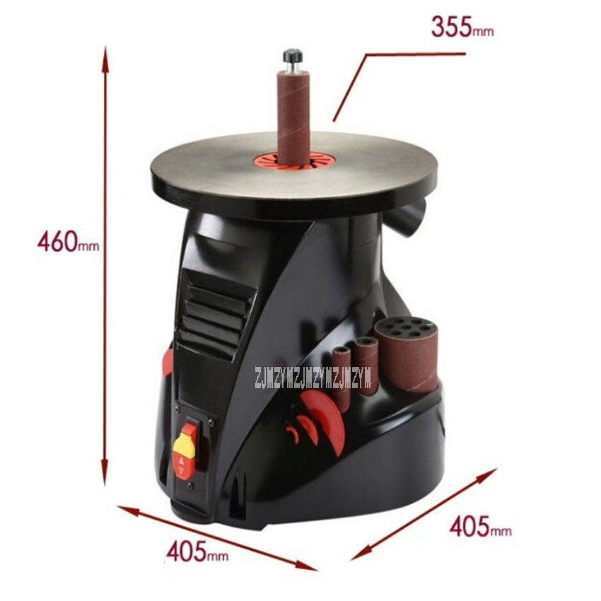 New OS1400 Shaft Sand Machine Curved Surface Grinding Table Legs Wooden Handle Shaft Sand Machine 220v350W
