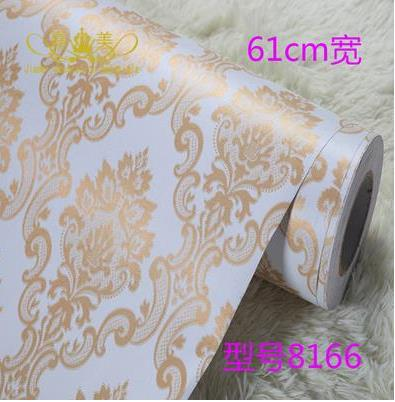 Thickening Europe Type Pvc Wallpaper Adhesive Wallpaper Make Up Membrane Wallpaper European