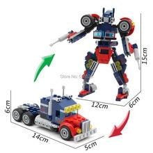 GUDI Legoings Block 4 in 1 Transform Robot  Car Turn Into Robot Creator Building Blocks Mini Bricks Set Toys for Children