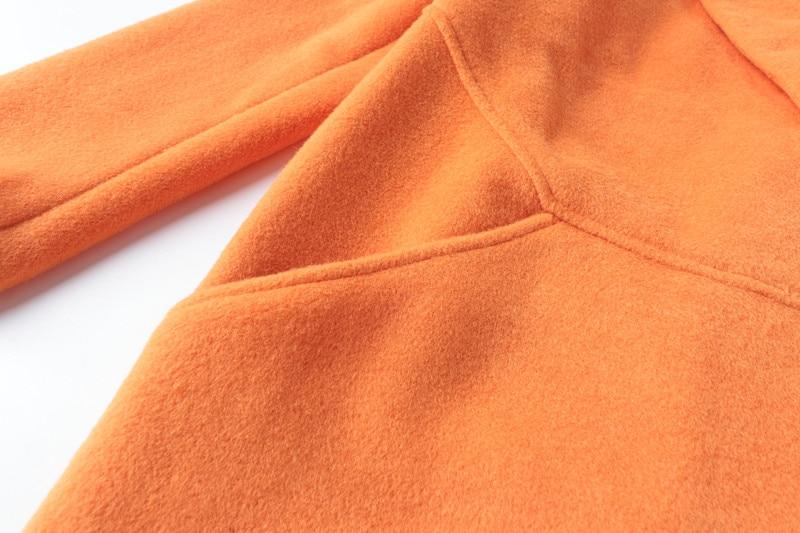 Revers Mode Couleur Chaude Tranchée corail De Lumineux Manteau Laine Or Pur Style Élégant Rouge vert Pardessus Bouton Femmes Plus Un Taille Épais Britannique Vente tPqwdnTEWq