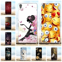 For Sony Xperia XA Case Soft TPU Silicone F3111 F3113 F3115 Cover Girl Patterned Shell