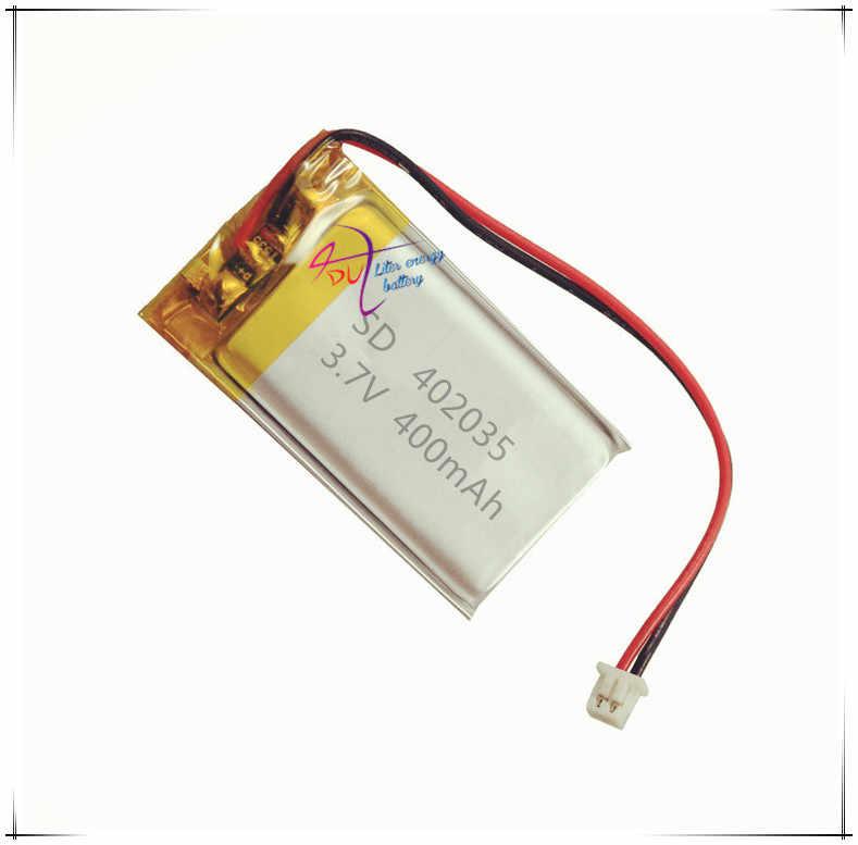 XHR-2P 2.54 402035 core 400mAh 3.7V بطارية بوليمر MP3 مكبر صوت محمول نظام تحديد المواقع آلة قصة مكبر الصوت