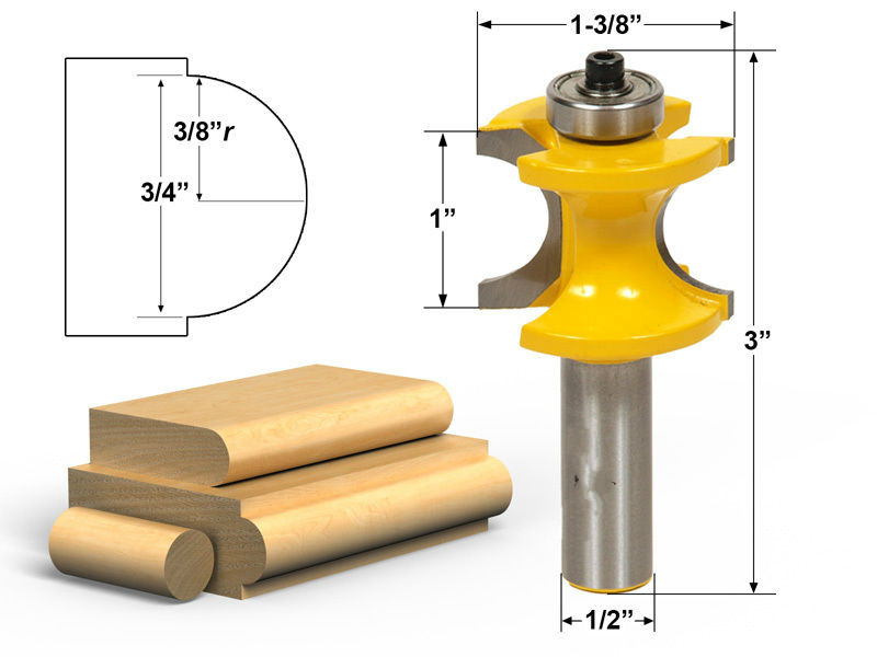 1/2 shank Wood Cutter Router high quality Cutter Router Bit for wood/ woodworking milling cutter with bearing wood router mayitr woodworking cutter bit 1 2 shank engraving molding router bit shaker for wood milling cutter