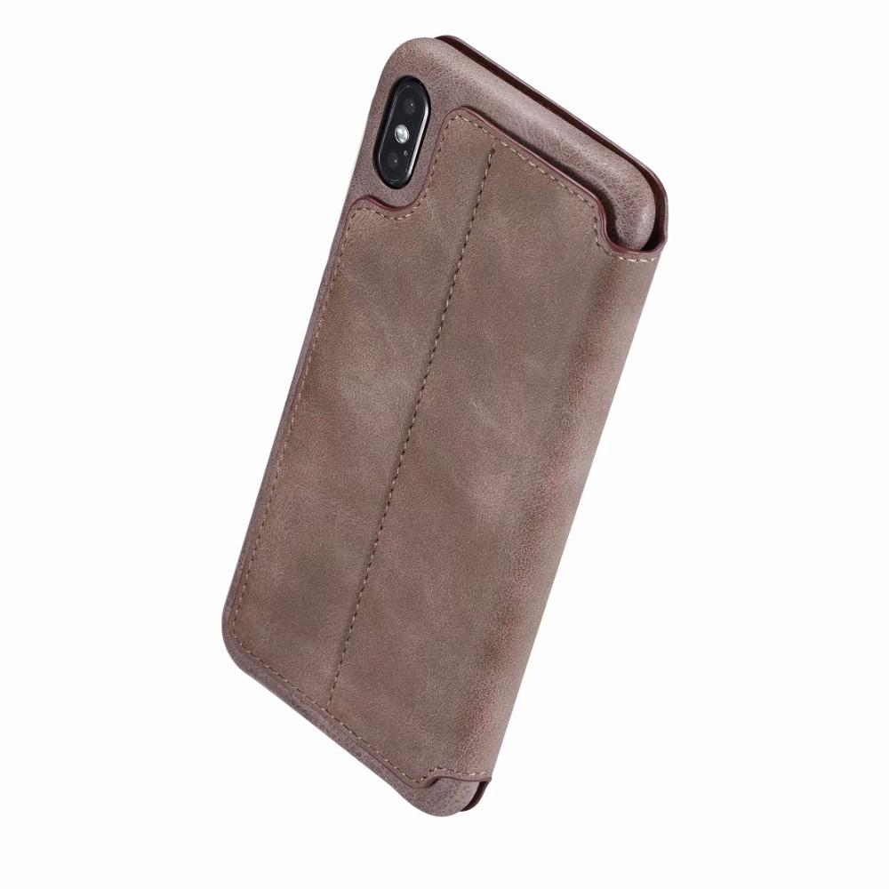 Magnet Flip Case For iPhone 6 S 7 8 iPhone X XS Max XR Leather Card Slot Wallet Cover Case For iPhone 6s 7 8 Plus Coque in Flip Cases from Cellphones Telecommunications