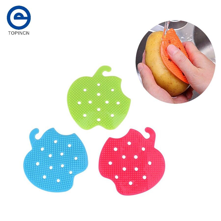 1 Unid multifuncional Hortofrutícola Cepillo Fácil Cepillo De Limpieza Patata Co