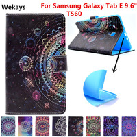 Wekays Case For Samsung Tab E 9 6 T560 Leather Stand Fundas Case For Coque Samsung