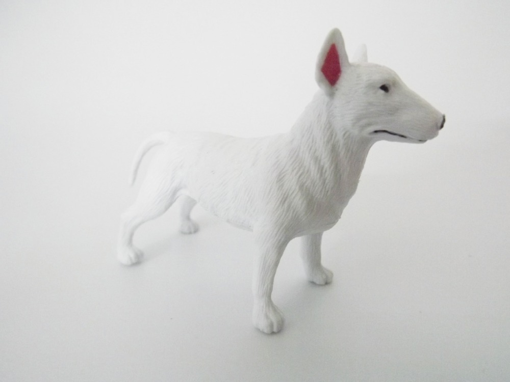 White Dog 1 Pcs High Quality Simulation Model Pit Bull Terrier In