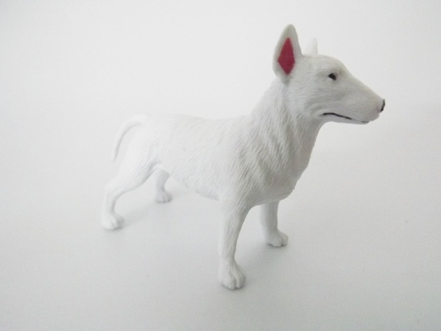 White Dog 1 pcs High quality Simulation Model Pit Bull Terrier-in ...