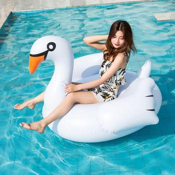 Inflatable Flamingo Swimming float Pool Float Pink Ride-On Swimming Ring Adults Children Water Holiday Party Toys Piscina 150CM 6