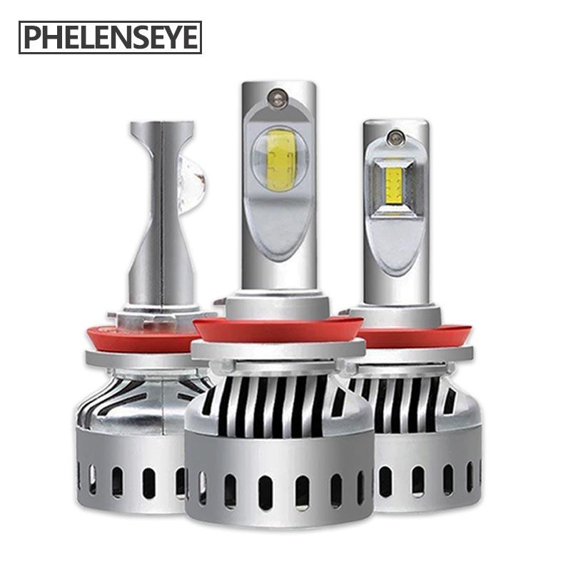 Car Lights New 9012 Led Car Headlight H4 H7 9005 9006 H8 H11 Car Light 3000k Yellow 4300k Warm White 6000k White Hir2 Led Lamp Auto Bulbs Elegant Appearance Car Headlight Bulbs(led)