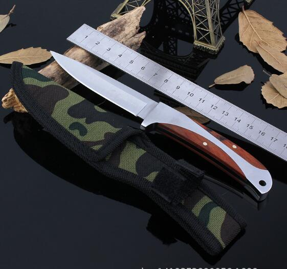New fixed blade font b knife b font 5Cr13 camping survival pocket font b knives b