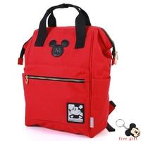 Cartoon Backpack School Travel Bag Double Shoulder Bag Zipper Bag boy Canvas Backpack keyChain Ring Teenage boys girls Backpack