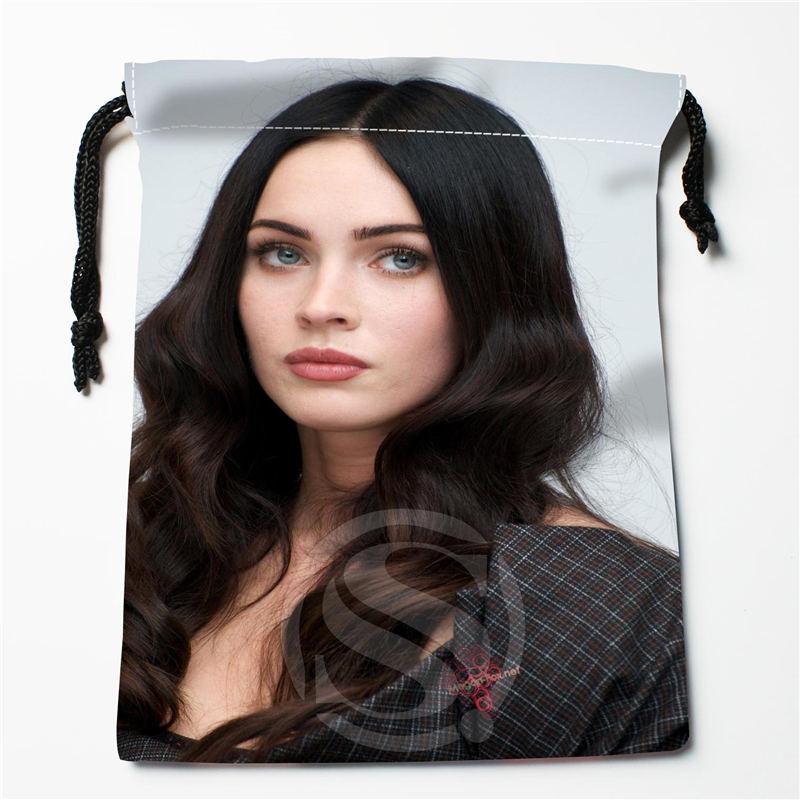W-111 New Megan Fox 03 Custom Logo Printed  Receive Bag  Bag Compression Type Drawstring Bags Size 18X22cm E801wv111