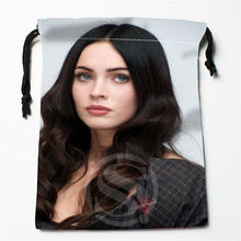 W-111 New Megan Fox 03 Custom Logo Printed  receive bag  Bag Compression Type drawstring bags size 18X22cm E801wv111