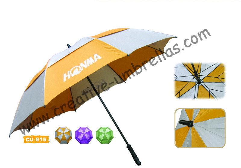 Free shipping by sea,sport outdoor fiberglass shaft and ribs,pongee silver coating golf umbrella,windproof,anti-static,UV-Proof