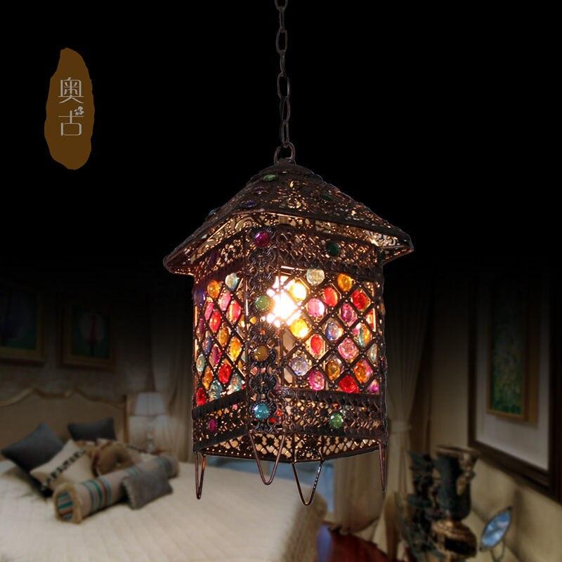 American Retro Restaurant Bar rural single-head chandelier chandeliers small house porch balcony aisle D-64