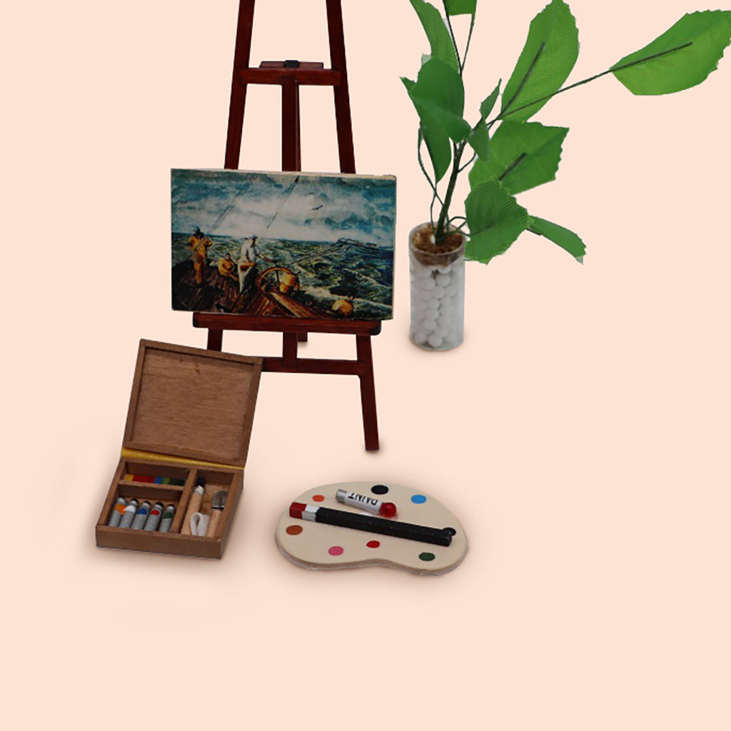 1:12 Dollhouse Miniature Watercolor Box Kit Box Tools Accessory Children Toy High Quality Very Attractive And Stylish A703