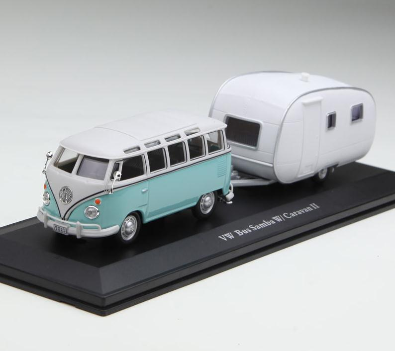 1:43 alloy bus model,high simulation Volkswagen van Trailer,metal castings,static collection model toy vehicle,free shipping
