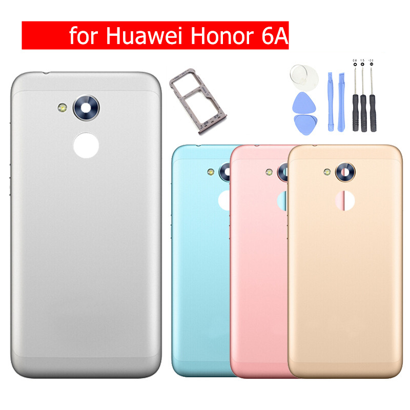 l'ultimo 18dec 6c199 US $8.49  for Huawei Honor 6A Play Battery Back Cover Rear Housing Metal  Rear Door Camera Glass Card Tray Holder Repair Spare Parts-in Mobile Phone  ...