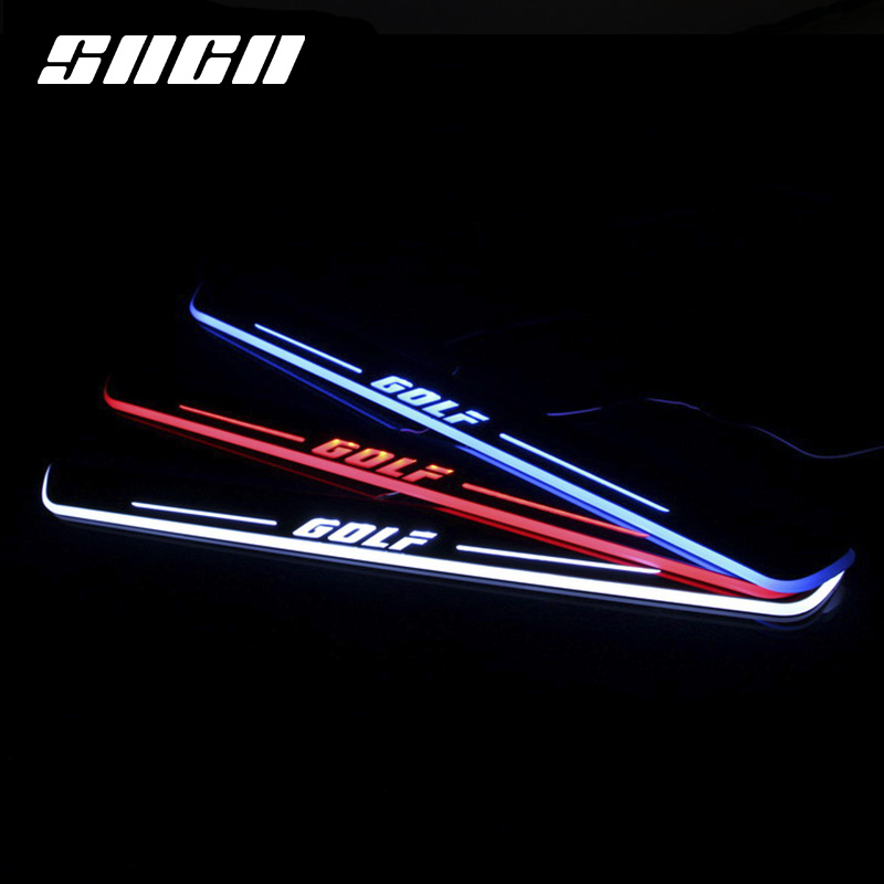 SNCN Trim Pedal LED Car Light Door Sill Scuff Plate Pathway Dynamic Streamer Welcome Lamp For VW Volkswagen Golf 7 MK7 2014 16-in Decorative Lamp from Automobiles & Motorcycles    1