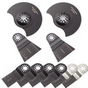 Image 1 - 10 قطعة الخشب ثنائية المعادن الدقة شفرات المنشار ل فين بوش ماكيتا Bosch متعددة الوظائف الخشب منشار قطع المعادن شفرات متعددة الوظائف أداة